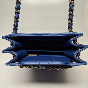 CHANEL Accessories - Chanel Blue Quilted iPhone Crossbody Bag